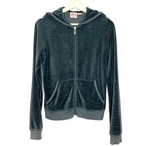Juicy Couture Grey Velour Track Jacket